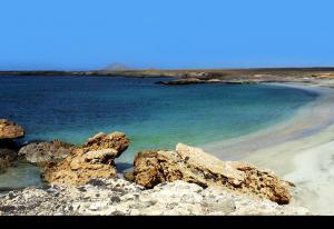Calheta Funda, öde strand & fiske ställe på Kap Verde & Sal