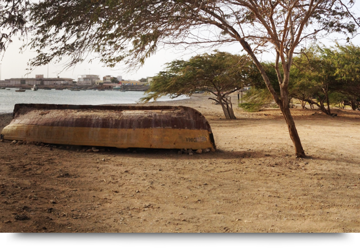 Palmeira, en fiskeby på västra Sal, Kap Verde öarna. Bra fiske ställe från land.