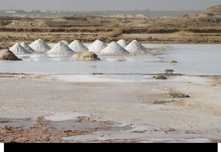 Info & fakta om Saltgruvorna nordost om Santa Maria, Sal Kap Verde öarna salt utvinning