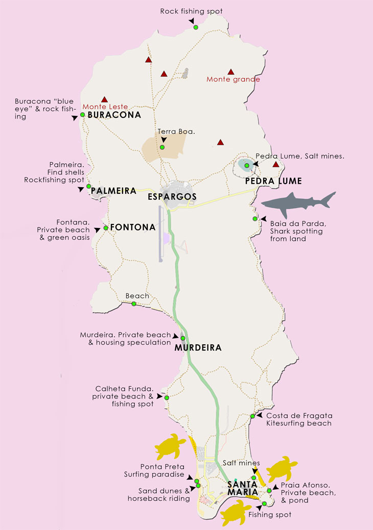 Cape Verde Map Of Sal Free Activities Attractions - Cape verde map