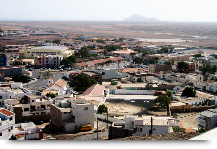 Espargos main capital of Sal, Cape de Verde islands. Info and facts.