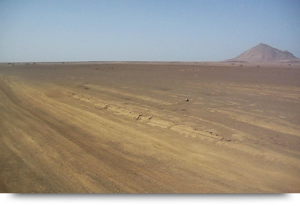 The desert & mirages in Terra Boa, Cape Verde islands Sal