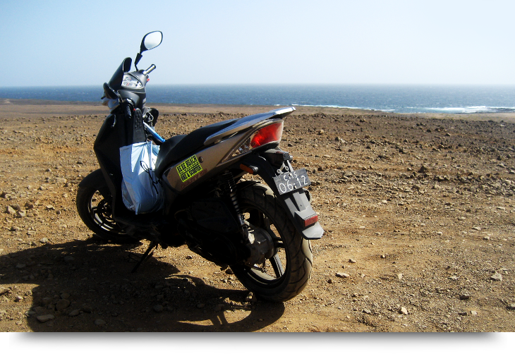 Info and facts about Cape Verde islands. See all of Sal by motorbike / moped / motorcycle in 3 days. Best tips on roads, routes, attractions, towns & desert.