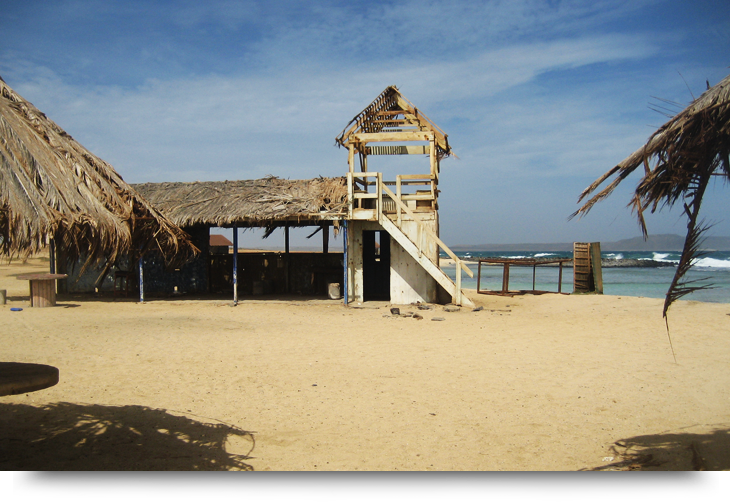 Info about Praia Afonso empty beach & pond with tropical fish Cape Verde islands, Sal. Beach for children